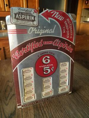 Certified Brand Aspirin Boxlet Advertising Display with 60 boxlets