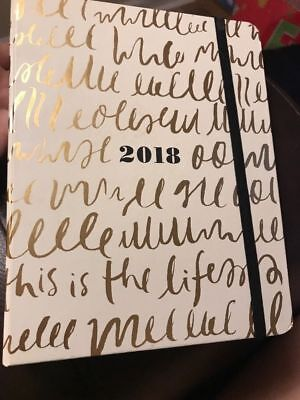 2018 Kate Spade Agenda Medium 17 Month set the stage this is the life- NEW