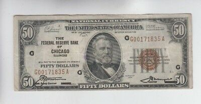 Federal Reserve Note FRBN $50 1929 vf