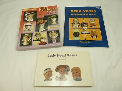 Lot of 3 HEAD VASES Identification & Price Guide Collectors Reference Books