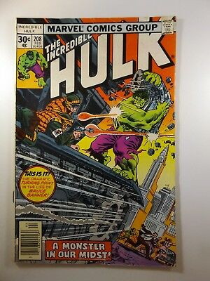 """The Incredible Hulk #208 """"A Monster in our Midst!"""" VG Condition!!"""