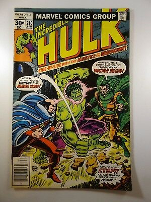 The Incredible Hulk #210 W/ Master of the Unknown! Fine- Condition!