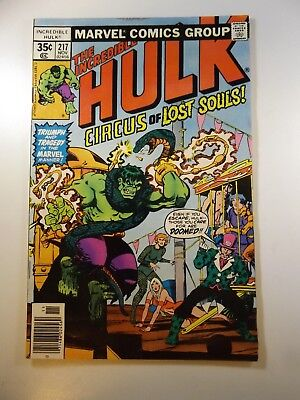 """The Incredible Hulk #217 """"Circus of Lost Souls!""""  Fine- Condition!!"""
