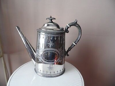 Antique Victorian Sheffield silver plated coffee pot