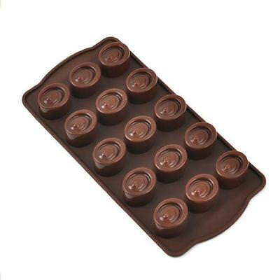 15-Cavity Oval Shape Soap Mold Silicone Chocolate Mould Tray Homemade Making LD