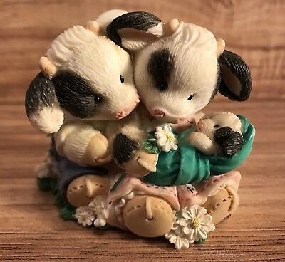"""Enesco Mary's Moo Moos """"Our Love Is Growing"""" (New Baby) Cows Farm Decor 207128"""