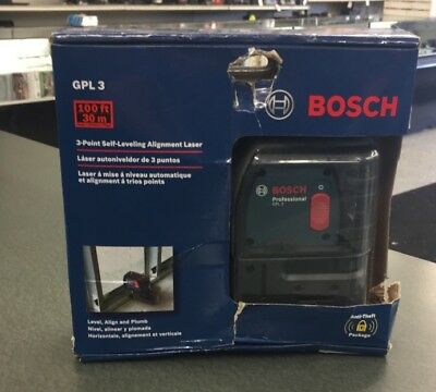 Bosch GPL3 S 3-Point Self-Leveling Alignment Laser Level  free shipping