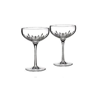 Waterford Lismore Essence Set of 2 Saucer Champagne Flute None One Size