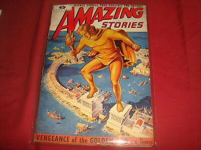 AMAZING STORIES #10   British UK Pulp Magazine 1952