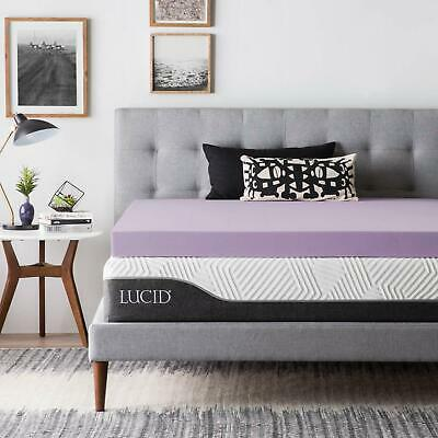 3 Inch Lavender Infused Memory Foam Mattress Topper - Twin Full Queen King