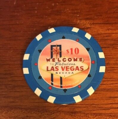 Welcome to Las Vegas $10 Collectible Poker Chip