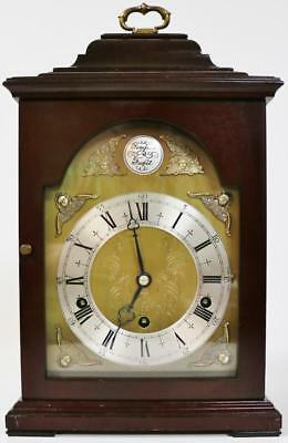 Superb Vintage English Elliott 8 Day Mahogany Double Chime Musical Bracket Clock