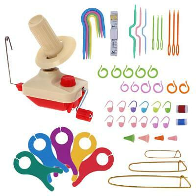 Wool Winder Yarn Fiber String Winding Machine Household DIY Knitting Tool Set