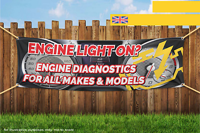 Engine Light On Engine Diagnostics For All Makes Heavy Duty PVC Banner Sign 3014