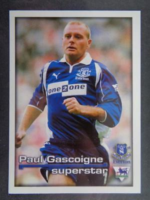 Merlin Premier League 2001 - Superstar Paul Gascoigne Everton #146