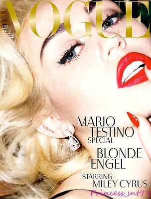 VOGUE Magazine Germany March 2014 MILEY CYRUS Anja Rubik CANDICE SWANEPOEL