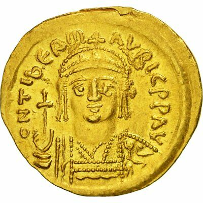 [#509490] Coin, Maurice Tiberius, Solidus, Constantinople, MS(60-62), Gold