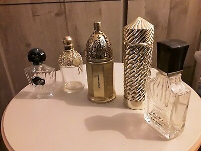 5 flacons dont 1 étui de parfum ,eau de toilette factice vide collection