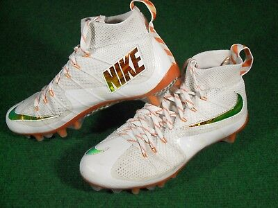 EUC Mens Nike Vapor Untouchable 2015 Super Bowl LE TD Football Cleats White  9.5 89227885cf9a