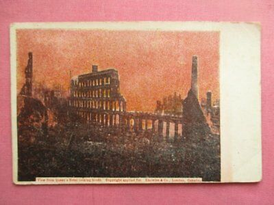 Canada's Greatest Fire Vintage Postcard, View From Queen's Hotel To South c1904