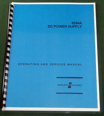 """HP 6294A Operating & Service Manual: w/11""""X17"""" Foldouts & Protective Covers"""