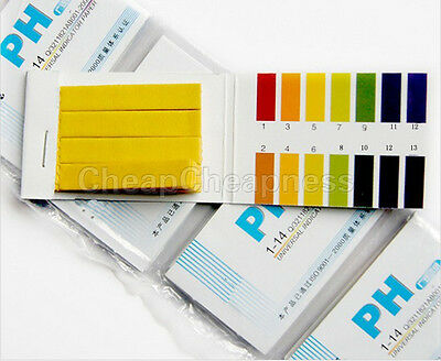 160x pH Indicator Test Strips 1-14 Laboratory Paper Litmus Tester Urine ATBD