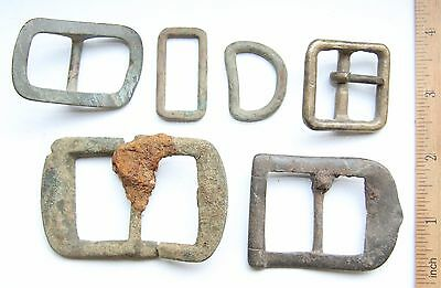 Lot Of Antique Old Bronze Brass Buckles (AVG16)