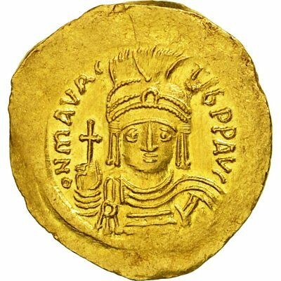 [#509489] Coin, Maurice Tiberius, Solidus, Constantinople, MS(63), Gold