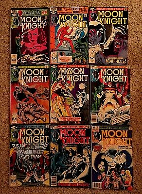 Marvel's MOON KNIGHT COMIC LOT 1980-1981 #1, 3-7, 12-14