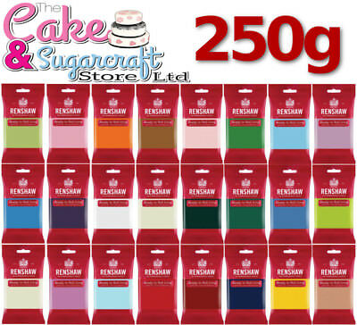 Renshaw Ready to Roll Icing 250g - All Colours Free Post