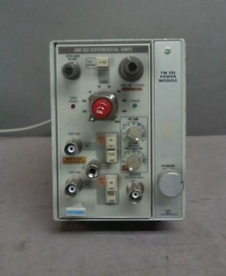 Vintage Tektronix AM502 Differential Amplifier Amp w/ TM501 Power Module EX! NR!