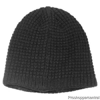 0b1e232bc13 Apt. 9 Men Heather Black Waffle Knit Black Sherpa Lined Beanie Hat