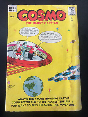 Cosmo The Merry Martian Two Pack: #3, #6-1959-Rare! Archie Comics
