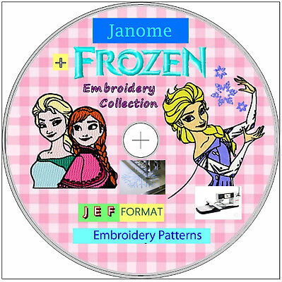 140,000 Embroidery Designs FREE Software 1st class JEF JANOME Format FROZEN 026a