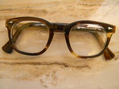 True Vintage AO American Optical Tortoise Eyeglass Frame 46/22