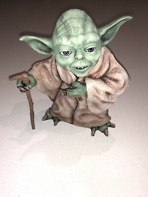 Retro Professionally Painted Model Mint Condition Very Rare Star Wars Yoda Figur