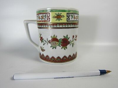 Chinese Famille Rose Guilting Hand Painted Porcelain Mug