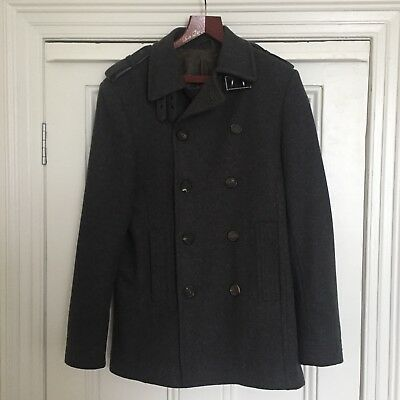 Dark Grey Ted Baker Wool Coat - High Quality - Size 3 (38)