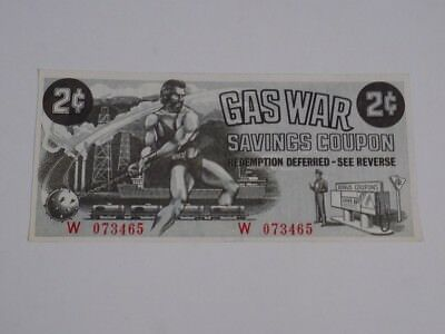 Canadian Tire Gas War Savings Coupon 2 Cents Circa 1963