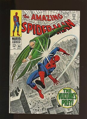 Amazing Spider-Man 64 VF 8.0 * 1 Book * The Vulture's Prey! Romita St. Cover!