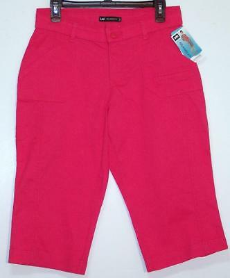 NWT Lee Relaxed Fit Mid Rise Stretch Skimmer Capri Pants 4 6 Hibiscus
