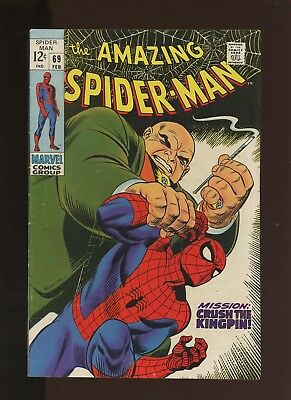 Amazing Spider-Man 69 FN+ 6.5 * 1 Book Lot * Kingpin! Romita Sr. Art! Stan Lee!