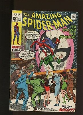 Amazing Spider-Man 91 FN+ 6.5 * 1 Book * 1st Sam Bullit! Stan Lee & Gil Kane!