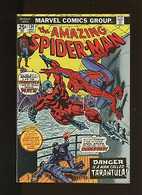 Amazing Spider-Man 134 VF/NM 9.0 * 1 Book Lot * 1st Appearance of Tarantula!!!