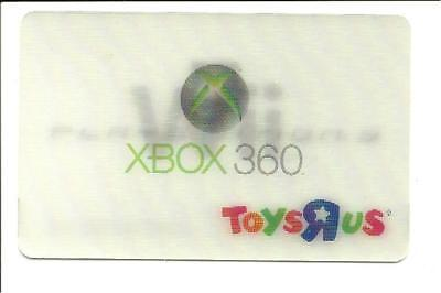 ToysRUs Lenticular Wii XBox 360 Playstation 3 Gift Card No $ Value Collectible