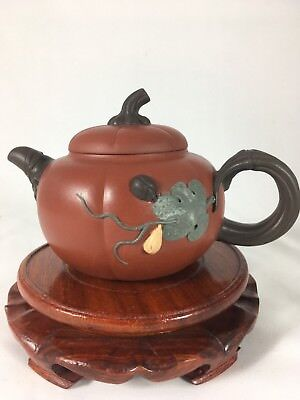 Yixing Teapot-Ladybug and Pumpkin