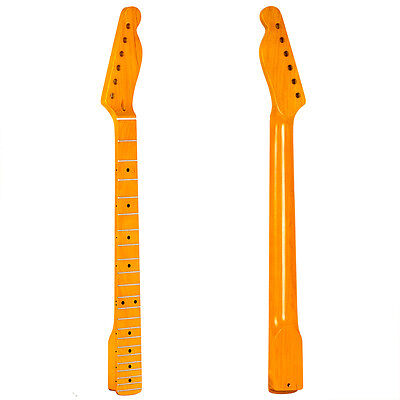 Electric Guitar Neck for TL Style Parts Replacement Maple Black Dots 22 Frets
