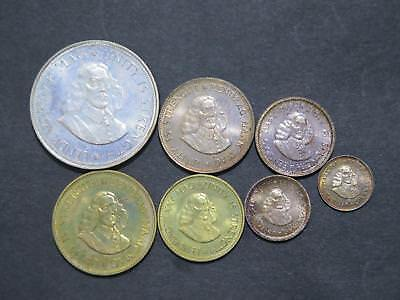 South Africa 1964 Proof Set Silver 50 20 + Cents Toned World Coin Collection Lot