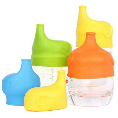 SiliconeToddler Kid Baby Sippy Lid Stretchable Leakproof Cup Bottle Cover Eyeful