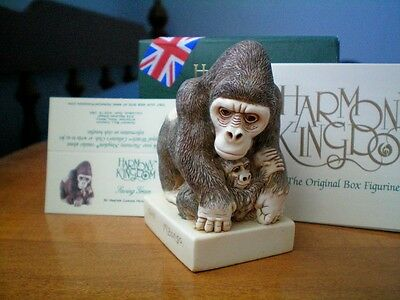 Harmony Kingdom Saving Grace Silver Back Gorilla Marble Resin UK Made LE NIB